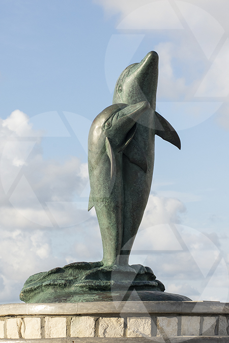 The Dolphin statue on Galveston's Seawall Boulevard