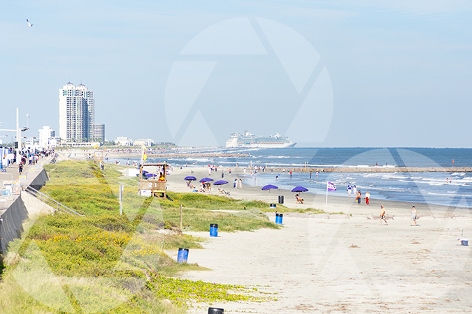Picture of Galveston Seawall and Beach