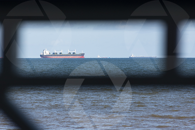 Ship photo taken from Galveston Beach
